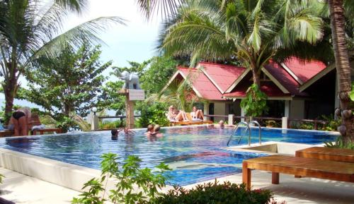 The main swimming pool at Penny Thailand, Koh Chang, Trat, Thailand